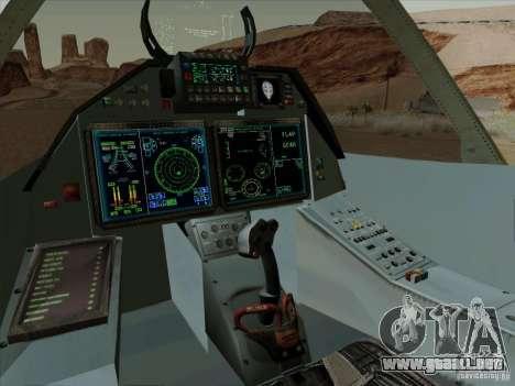 T-50 Pak Fa para vista lateral GTA San Andreas