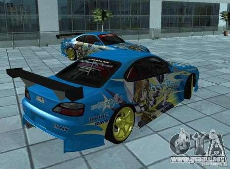 Nissan Silvia S15 para la visión correcta GTA San Andreas