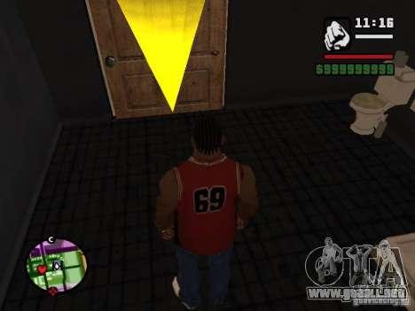 Privado CJ para GTA San Andreas sucesivamente de pantalla