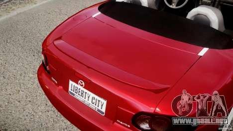 Mazda MX-5 Miata para GTA 4 interior