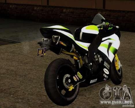 Kawasaki ZX-10R para GTA San Andreas left