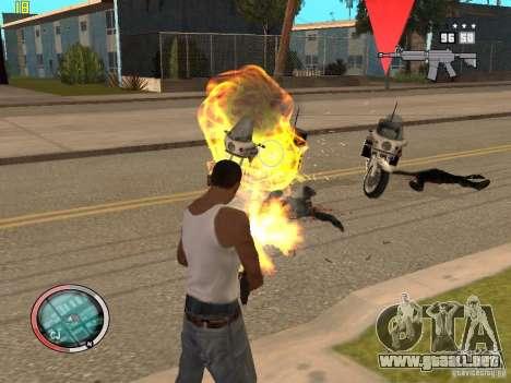 Además del HUD de GTA IV para GTA San Andreas séptima pantalla