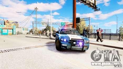 POLICIA FEDERAL MEXICO DODGE CHARGER ELS para GTA 4 visión correcta