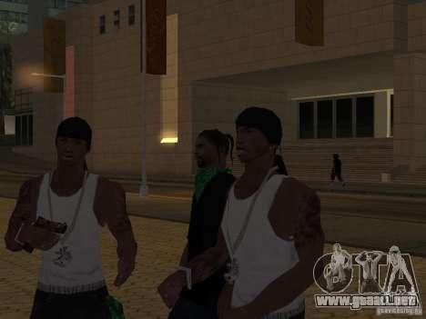 Reemplace todas las pieles Grove Street Families para GTA San Andreas