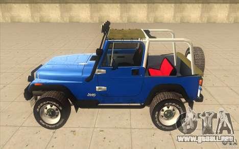 Jeep Wrangler 4.0 Fury 1986 para GTA San Andreas left