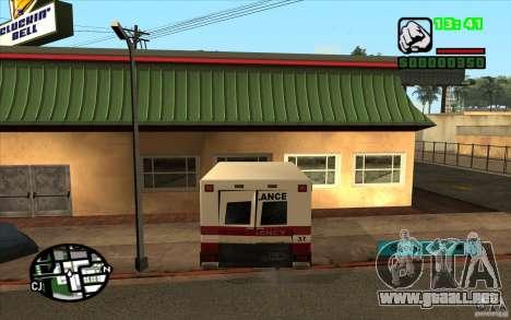 Todas las máquinas están pintadas + personas ent para GTA San Andreas segunda pantalla