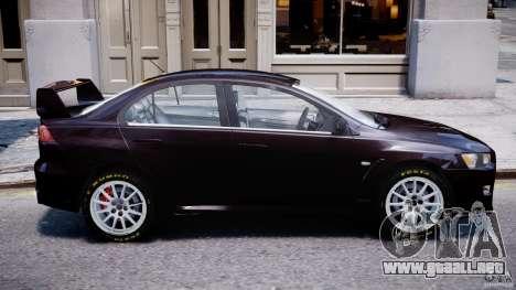 Mitsubishi Lancer X para GTA 4 left