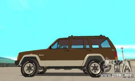 Jeep Grand Cherokee 1986 para GTA San Andreas left