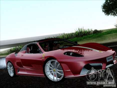 Ferrari F430 Scuderia Spider 16M para GTA San Andreas vista hacia atrás