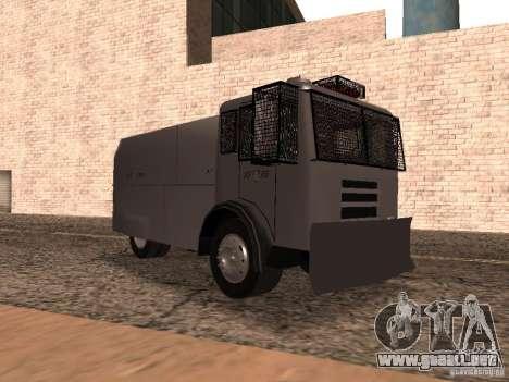 Un cañón de agua policía Rosenbauer para GTA San Andreas