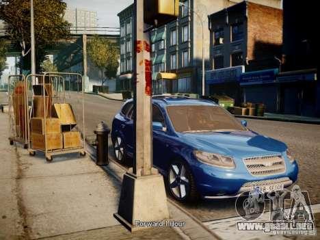 Hyundai Santa Fe para GTA 4 Vista posterior izquierda