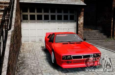 Lancia 037 Stradale para GTA 4 Vista posterior izquierda