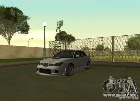 Subaru Impreza WRX STI-Street Racing para visión interna GTA San Andreas