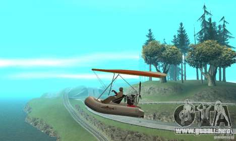 Wingy Dinghy (Crazy Flying Boat) para GTA San Andreas left