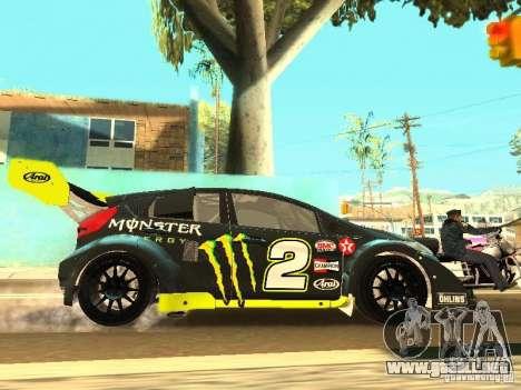 Ford Fiesta Rally Time para la vista superior GTA San Andreas