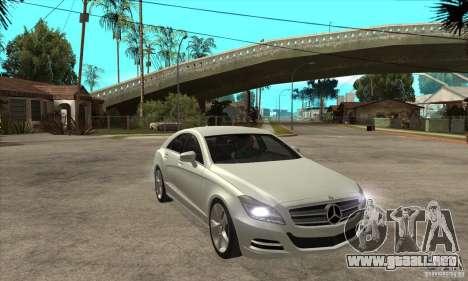 Mercedes-Benz CLS 350 2011 para GTA San Andreas vista hacia atrás