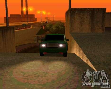 VAZ 2107 Hobo v. 1 para GTA San Andreas vista hacia atrás