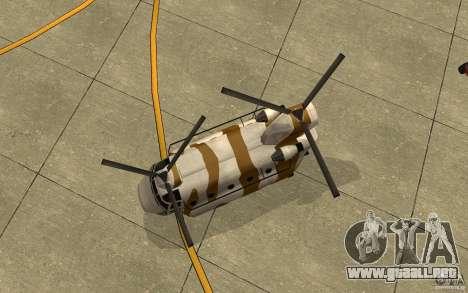 GTA SA Chinook Mod para visión interna GTA San Andreas