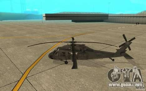 UH-60 Black Hawk para GTA San Andreas vista posterior izquierda