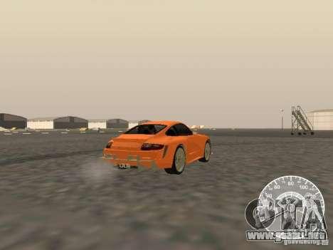 Porsche 911 GT3 Style Tuning para GTA San Andreas vista posterior izquierda