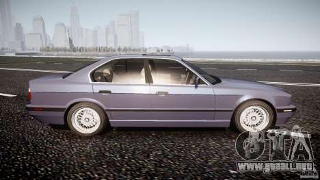 BMW 5 Series E34 540i 1994 v3.0 para GTA 4 vista lateral