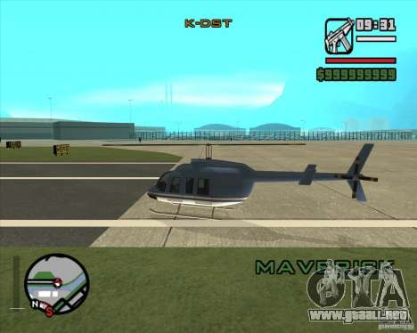 Piloto de trabajo para GTA San Andreas segunda pantalla