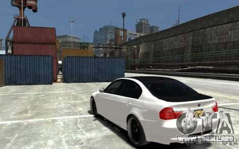 BMW 330i E60 Tuned 2 para GTA 4 Vista posterior izquierda