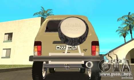 VAZ 21213 4 x 4 para visión interna GTA San Andreas