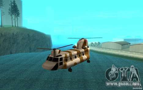 GTA SA Chinook Mod para GTA San Andreas