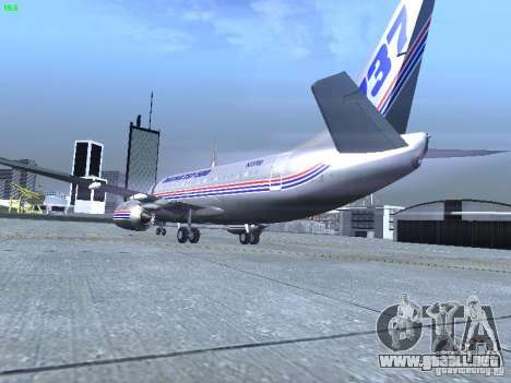 Boeing 737-500 para la visión correcta GTA San Andreas