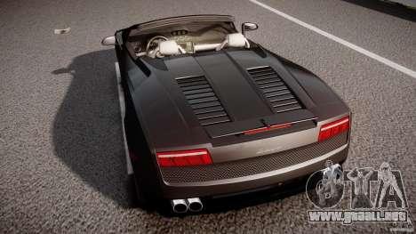Lamborghini Gallardo LP560-4 Spyder 2009 para GTA 4 vista desde abajo