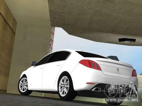 Peugeot 508 e-HDi 2011 para GTA Vice City vista posterior