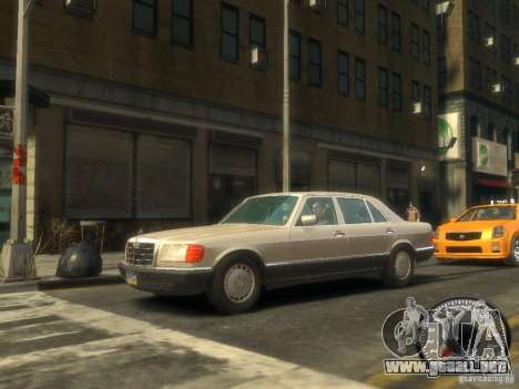 Mercedes-Benz W126 SEL560 1990 para GTA 4 left
