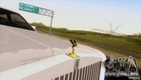 Rolls Royce Phantom Hamann para visión interna GTA San Andreas