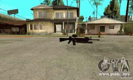 M16A4 + M203 para GTA San Andreas tercera pantalla