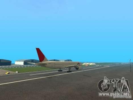 Boeing 777-200 Japan Airlines para visión interna GTA San Andreas