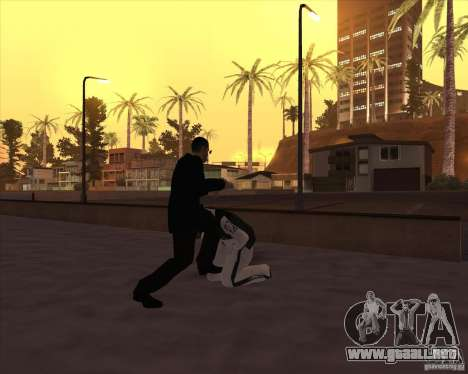 Kick in the balls para GTA San Andreas sucesivamente de pantalla