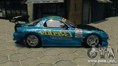 Mazda RX-7 RE-Amemiya para GTA 4 left