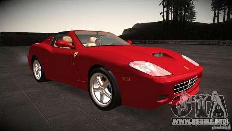 Ferrari 575 Superamerica v2.0 para GTA San Andreas vista hacia atrás