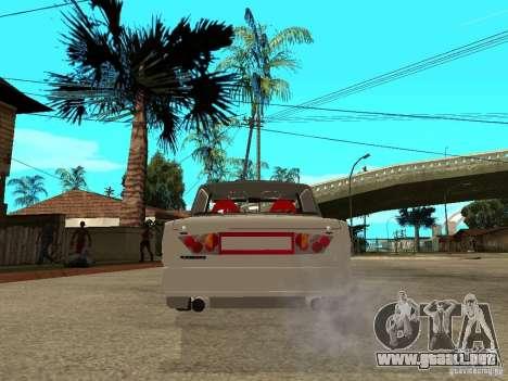 VAZ 2101 coche Tuning estilo para GTA San Andreas vista posterior izquierda