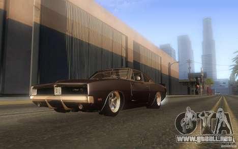 Dodge Charger RT 69 para vista lateral GTA San Andreas
