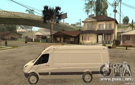 Volkswagen Crafter 2010 TDI para GTA San Andreas left