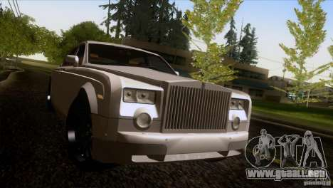 Rolls Royce Phantom Hamann para vista inferior GTA San Andreas