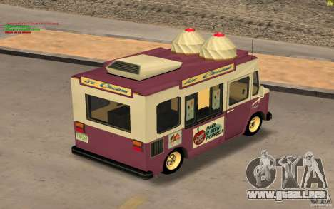 Chevrolet Forvard Control 20 Ice Cream para la visión correcta GTA San Andreas