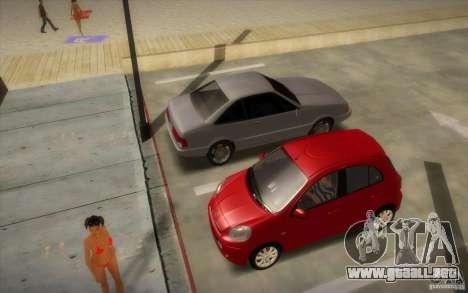 Nissan Micra 2011 para GTA San Andreas vista posterior izquierda