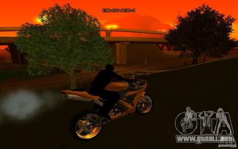Yamaha YZF R1 Tuning Version para visión interna GTA San Andreas