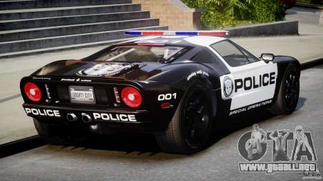 Ford GT1000 Hennessey Police 2006 [EPM][ELS] para GTA 4 vista lateral