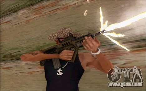 Tavor ctar-21 de WarFace v2 para GTA San Andreas sucesivamente de pantalla