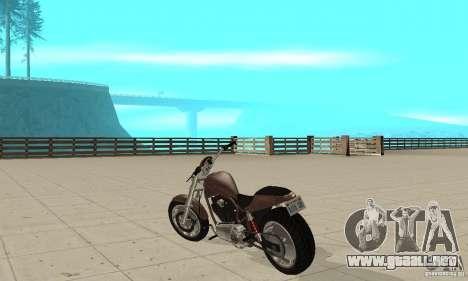 GTAIV Reverant para GTA San Andreas vista posterior izquierda