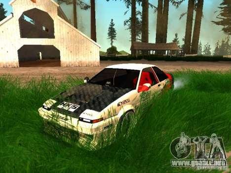 Toyota AE86 Coupe para la vista superior GTA San Andreas